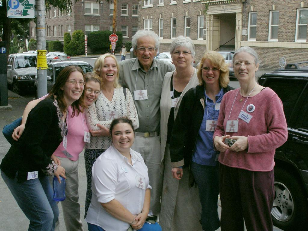 Dr. Paul Fleiss, Gloria Lemay, Gillian Longley, Jenn Beaman and other intactivists in Seattle.